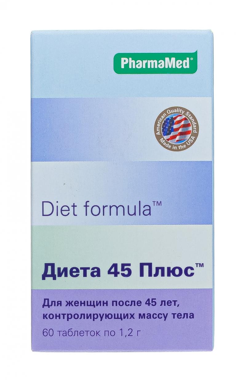 Диет Формула Диета 45 Плюс Таб 60. Диет формула диета 45 плюс таблетки, 60 шт.